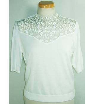 BNWOT M&S Limited Edition size 14 ivory jumper with lace