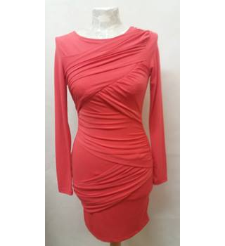 trendy Topshop - Size: 6 - Red / orange dress