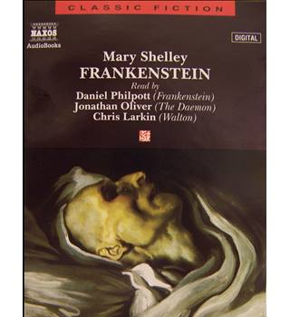 Frankenstein , by Mary Shelley (inner includes riveting 2page essay on Shelley 2 x tapes)
