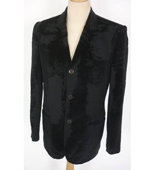 "Jean Paul Gaultier Size: M, 40"" chest, regular fit Black Textured Pattern Stylish French Designer Cotton Single Breasted Blazer"