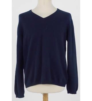 Isle Size L Navy Blue Cashmere Jumper