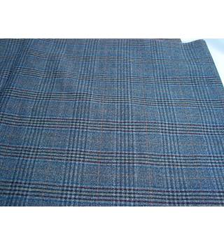 Fine Woollen Worsted Check Fabric Roll End
