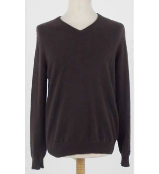 Club Room Size M Chocolate Brown Cashmere Jumper
