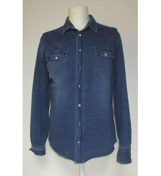 Hugo Boss - Long Sleeved Shirt - Denim Blue - Approximate Size: L
