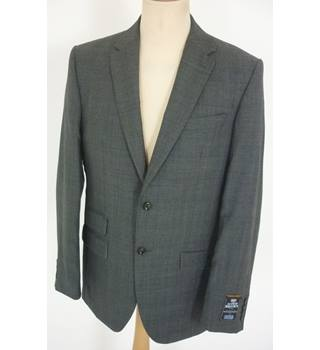 "M & S Size: M, 40"" chest, regular fit Charcoal Grey Prince of Wales Check  Smart/Stylish Worsted Wool Single Breasted Jacket"