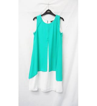 Principles - Size: 8 - Mint green and white - Sleeveless dress