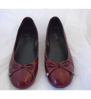 SOLEFLEX PATENT LEATHER BALLERINA SHOES solflex - Burgundy - Flat shoes