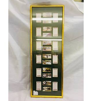 "A framed set of 12 Stephen Mitchell & Son ""Angling"" cigarette cards Stephen Mitchell"