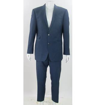 French Connection - Size: 44R/36R - Midnight Blue - Wool Mix - Single breasted suit