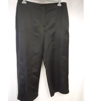 M&S Collection Satin-feel Trousers, Black, size 20 Short M&S Marks & Spencer - Size: XL - Black - Trousers
