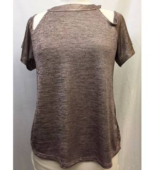 Pink and Metallic Marl Top from Warehouse, Size 14