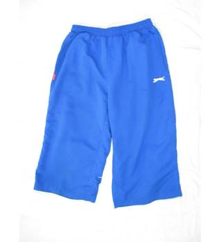 Slazenger - Size : L Men's Three Quarter Woven Blue Shorts