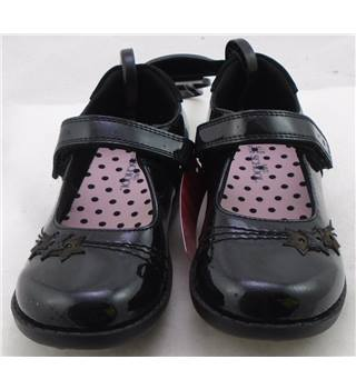 NWOT M&S School, size 8/25.5 black coated patent leather Mary Janes