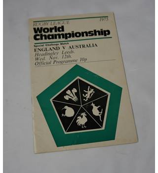 Rugby League World Championship - Special Challenge - England vs. Australia 1975, Official Programme