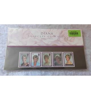 Diana Princess of Wales  Royal Mail mint stamps