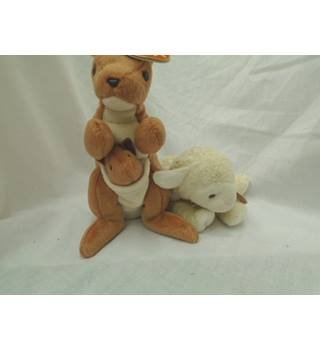 Fleecie and Pouch Beanie Babies
