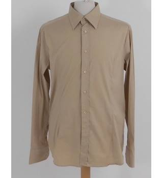 Belstaff Size XL Sand Brown Long Sleeved Shirt
