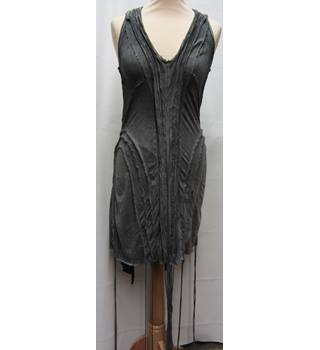 BNWT All Saints - Size: 8 - Grey - Sleeveless - Cotton Jersey Dress