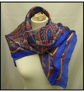 Cobalt Blue Square - Size: One size - Blue - Scarf