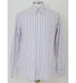 Van Heuson - Size: S  white, grey & red striped long sleeved shirt