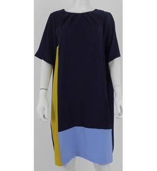 M&S Collection Size 12 Navy Block Design Shift Dress