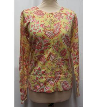 Lilly and Van - Size: M - Yellow Patterned  - Cotton Cardigan