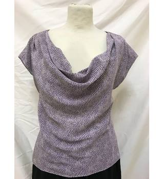 Nicole Farhi Silk Top Nicole Farhi - Size: 8 - Purple - Sleeveless top