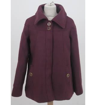 Anne de Lancay - Size: 10/12 - Purple Winter Coat