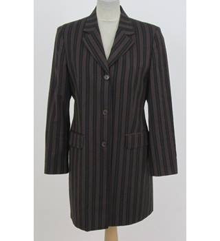 United Colours of Benetton - Size: 14 Brown with Black Stripes - Jacket