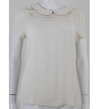 Boden size 12 cream short sleeved blouse