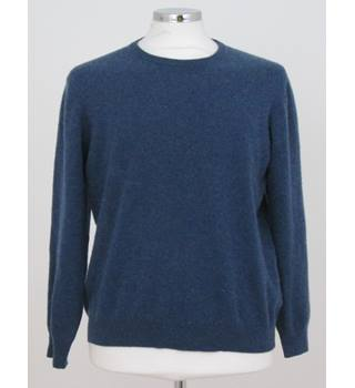 Marks and Spencer, size L Mid Blue cashmere jumper