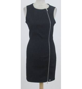 Diesel - Size: S - Black - Denim sleeveless Mini dress with full-length zip