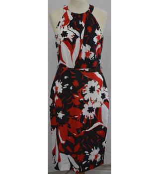 Precis Petite - Size: 8 - Red/Black/White - Patterned Dress