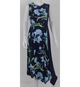 NWOT M&S Size  12 Navy Floral Panel Detail Dress