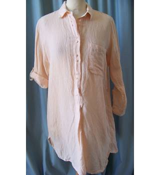 Zara Basic Collection - Size: XS - Pink  Long Shirt