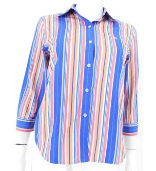 Lauren by Ralph Lauren Size: S Multi-coloured Striped Shirt