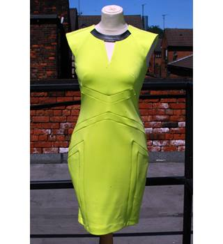 River Island lime dress (shopsoiled) River Island - Size: 8 - Yellow