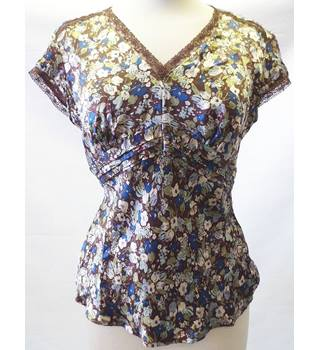 Next size 12 multicolour silk top.