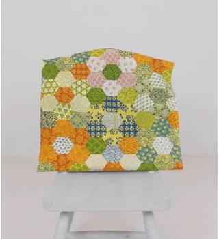 Floral Hexagon Print Piece Of Fabric