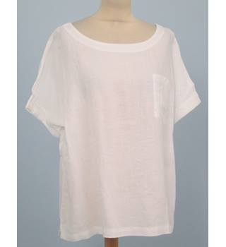 NWOT M&S Collection Size: 18 - White short sleeved linen top