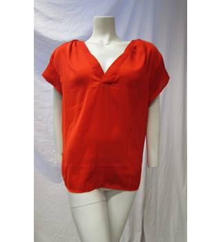 H&M Conscious Collection Size 20 Red Silky Top H&M - Size: 20 - Red