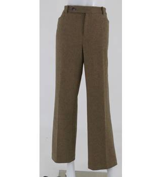 "Lauren by Ralph Lauren Adelle Size: 32"" Brown Woven Trousers"