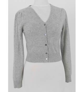 United Colors of Bennetton Size XS Grey Soft Pure Cashmere Cardigan