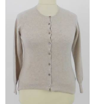 M&S Size 14 Cream Soft Pure Cashmere Cardigan