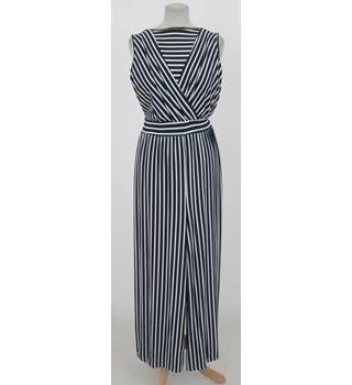 BNWT The Little Black Dress - Size: S -Navy and white striped jumpsuit