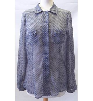 Next size M long sleeved blue shirt