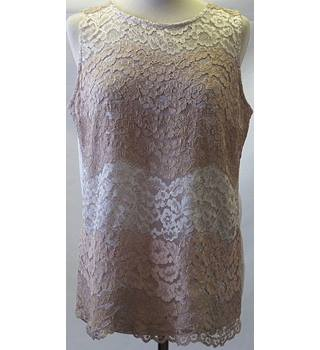 Dorothy Perkins size 10  gold lacy vest top