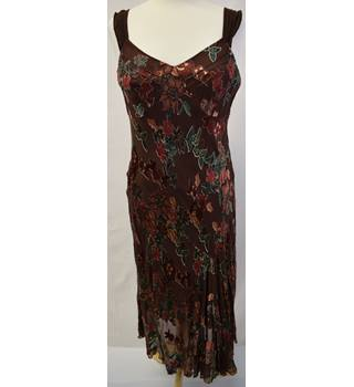 Monsoon brown beaded dress size 10 Monsoon - Size: 10 - Brown