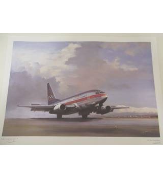 'On Time Touchdown' Signed Limited Edition Print by Tim Nolan  23/750