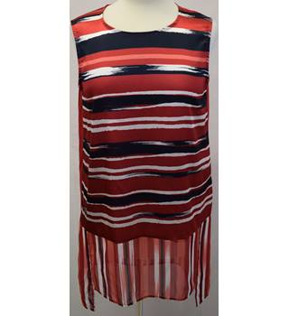Per Una red, white and blue top size 12 Per Una - Size: 12 - Red